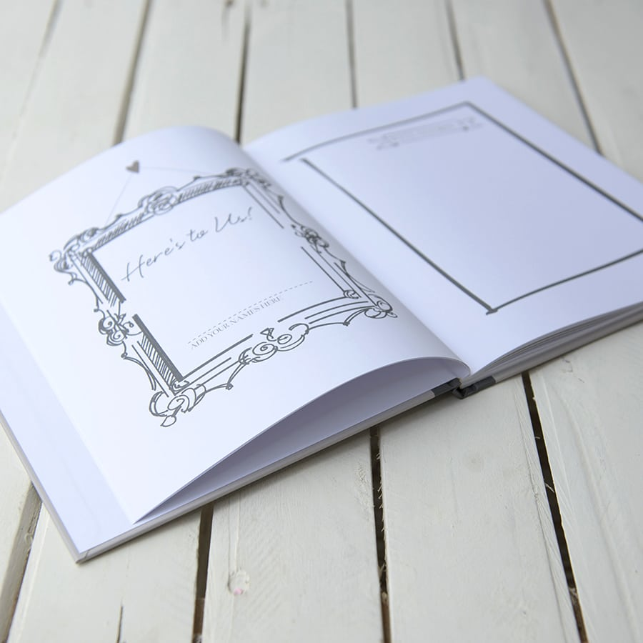 Be Our Guest Wedding Guest Book (Stone)