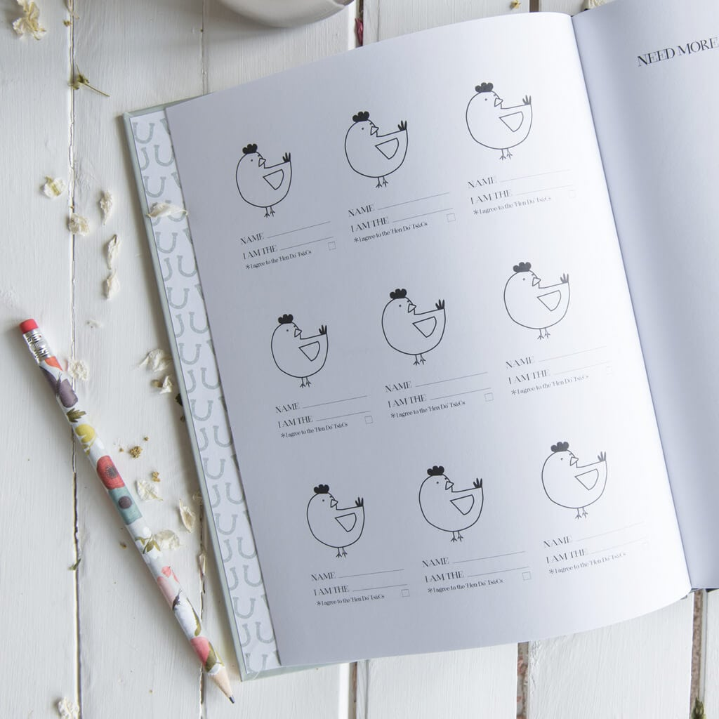 Original Hen Party Message And Memory Book