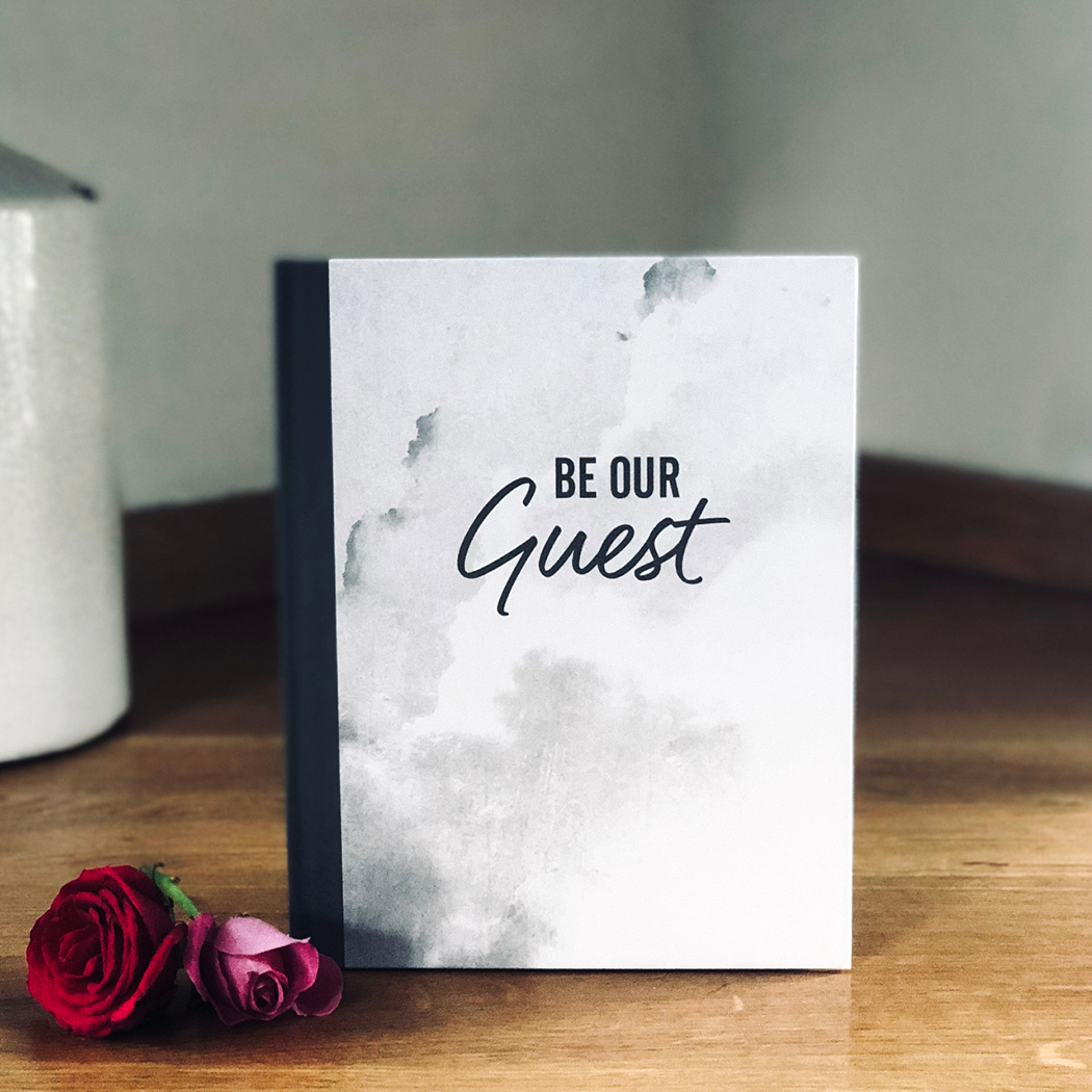 'Be Our Guest' Wedding Guest Book (Marble)